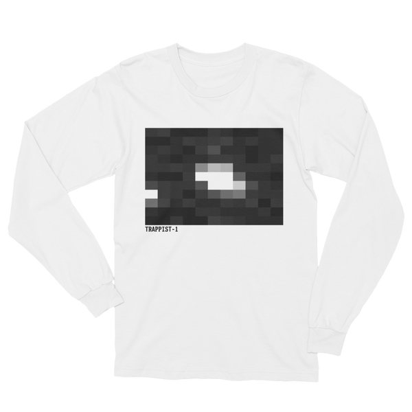 TRAPPIST-1 The First Image - Made in America Long Sleeve T-Shirt - White