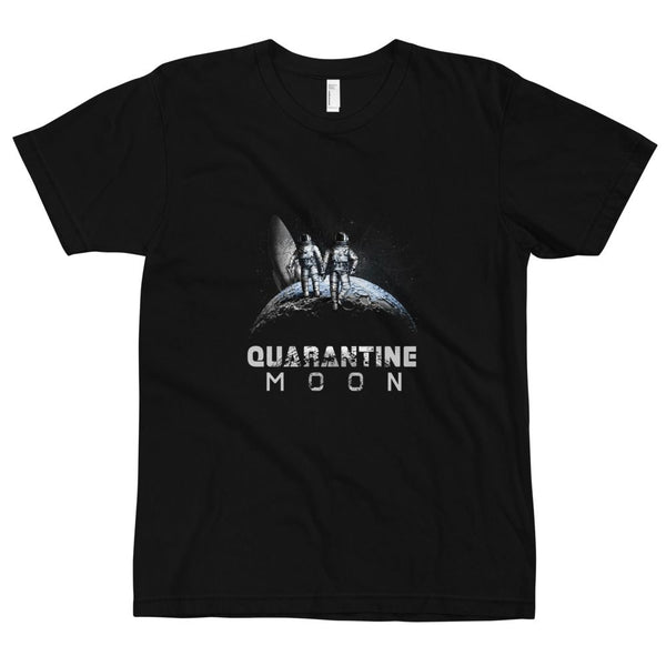 'Quarantine Moon' in unisex adult sizing on American Apparel 2001 shirt. - The Space Store