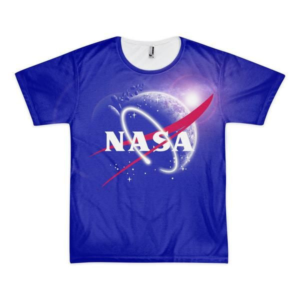 NASA Logo Shirt Design in NAVY BLUE  (2 sided design)