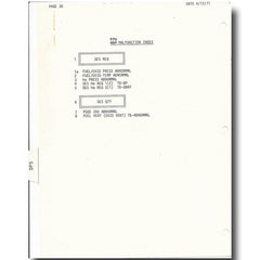 "APOLLO 15 LUNAR SURFACE FLOWN ""DPS"" INDEX CHECKLIST - EX DAVID SCOTT"