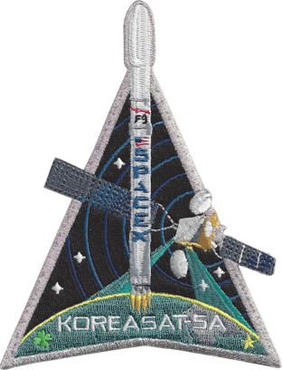 SPACEX KOREASAT 5-A MISSION PATCH - The Space Store