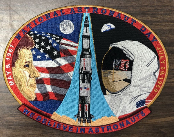 NATIONAL ASTRONAUT DAY APOLLO COMMEMORATIVE PATCH - The Space Store
