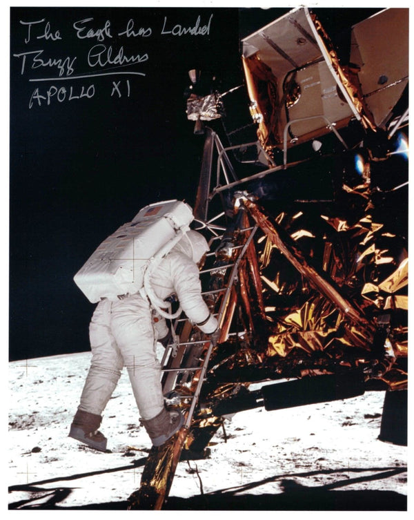 'The Eagle has Landed'  signed Apollo 11 Lunar Lander photo - The Space Store
