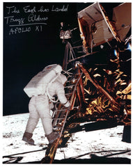 'The Eagle has Landed'  signed Apollo 11 Lunar Lander photo