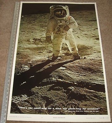 Buzz Aldrin Poster - This is a vintage poster by Celestial Arts from 1969