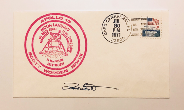 DAVE SCOTT AUTOGRAPHED APOLLO 15 COVER
