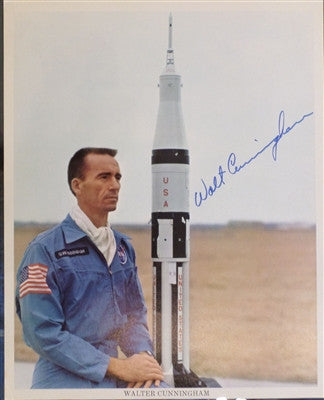 Walt Cunningham autographed 8 x 10 - The Space Store