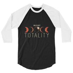 'TOTALITY' TOTAL SOLAR ECLIPSE SHIRT in 3/4 RAGLAN
