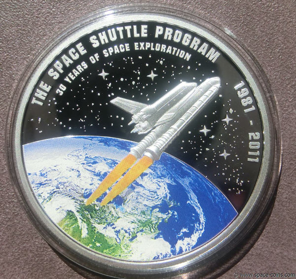 Cook Islands Space Shuttle coin - The Space Store