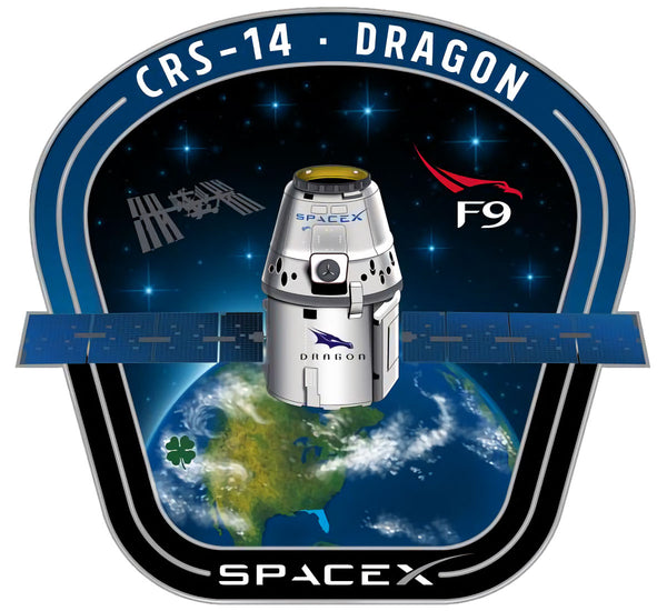 SPACEX CRS 14 MISSION PATCH - The Space Store