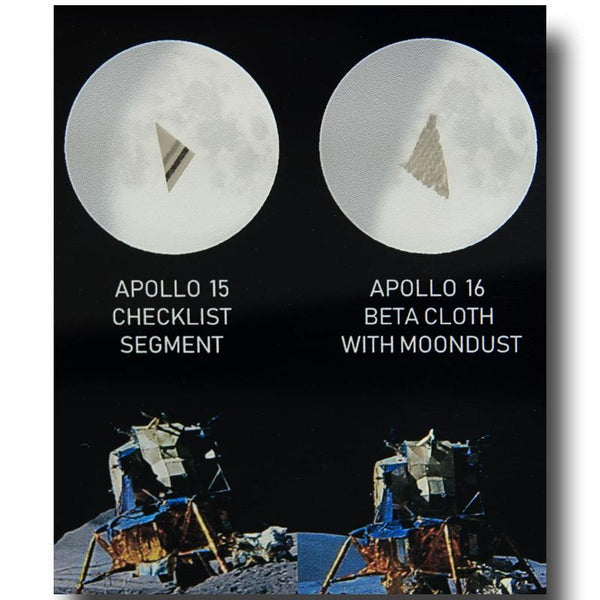 APOLLO ALL LUNAR SURFACE FLOWN ARTIFACTS ACRYLIC