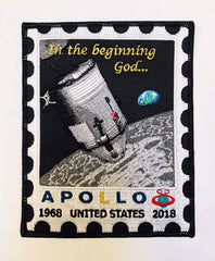 The Apollo 8 50th Anniversary Earthrise Postage Stamp Patch