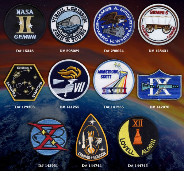Gemini Missions Patch Set - The Space Store