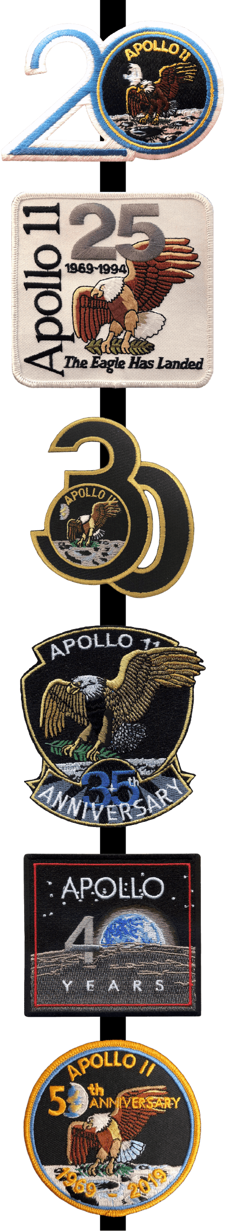 Apollo 11 Anniversary Mission Patch Set - The Space Store