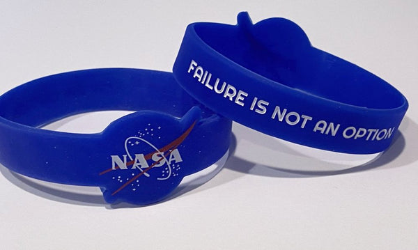 """Failure is Not An Option"" Wristband with Die Cut NASA Meatball"