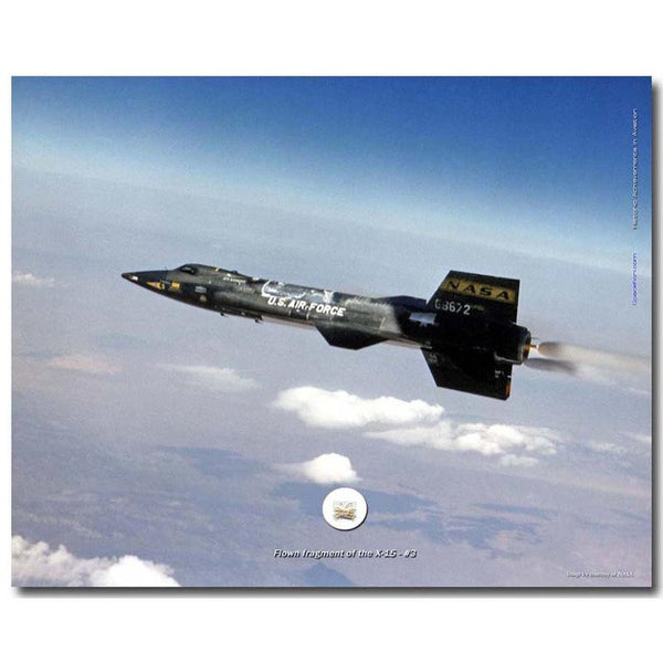 X-15 FLOWN FRAGMENT 8X10 PRESENTATION