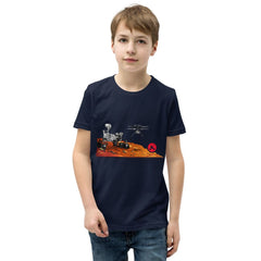 MARS 2020 Perseverance Rover and Ingenuity Helicopter -  Youth Unisex T Shirt