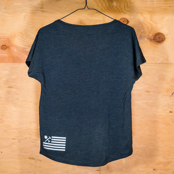 Women's Open Neck Dolman Tee