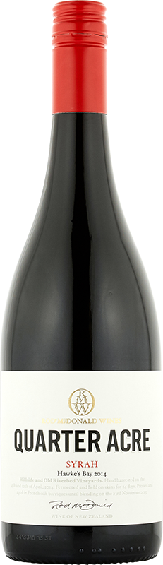 2014 Rod McDonald Wines Quarter Acre Syrah