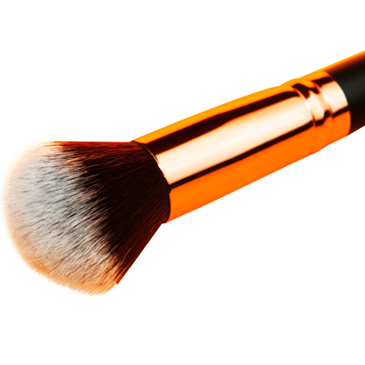 Round Deluxe Buffer Makeup Brush Rose Gold And Matte Black