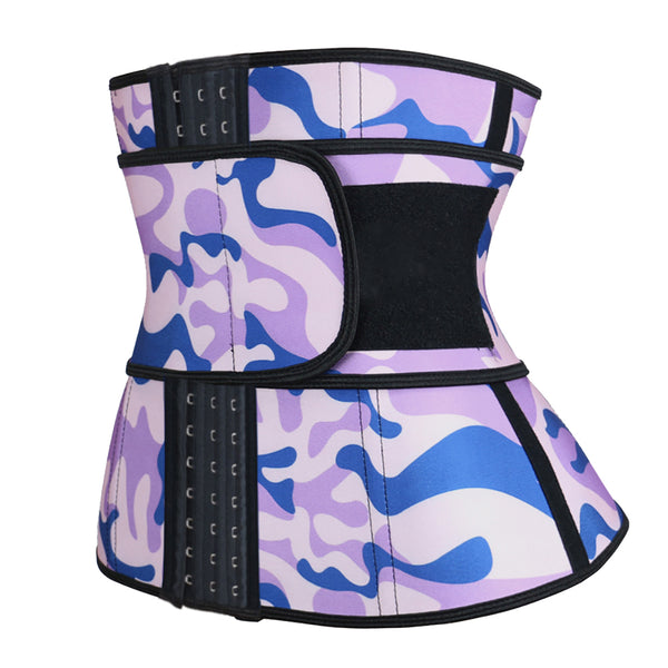 Hooks Camouflage Latex Waist Trainer 3XS-6XL MH1767