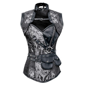 Corset-  NaughtySmile Steampunk Overbust By Organic Corset  Co