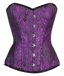 Purple/ Black Overbust Corset