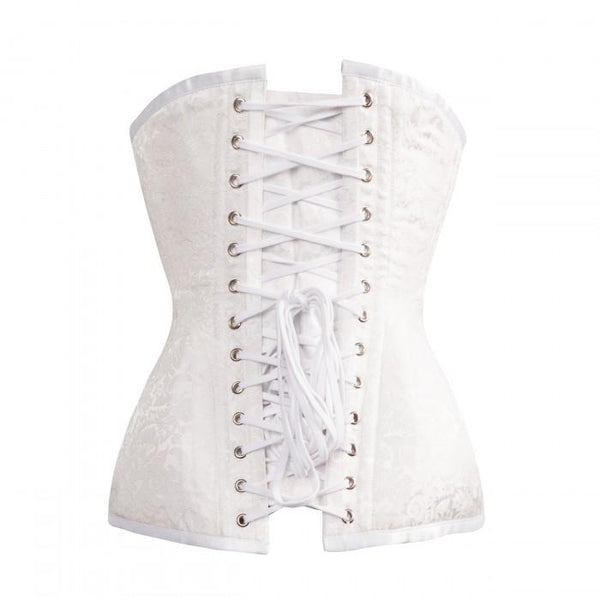 White Wedding Corset-NaughtySmileUSA-Organic Corset Company| The Best Corset Supplier in the USA