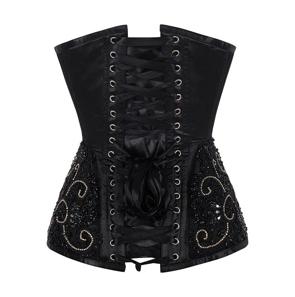 Neda Satin Overbust Couture Corset