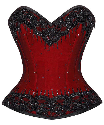 Olivia Overbust Corset With Lace Overlay