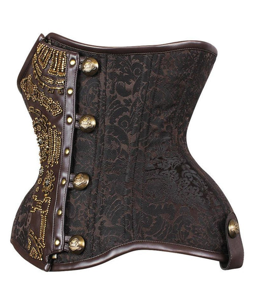 Fricker Curvy Embroidered Waist Trainer in Brocade