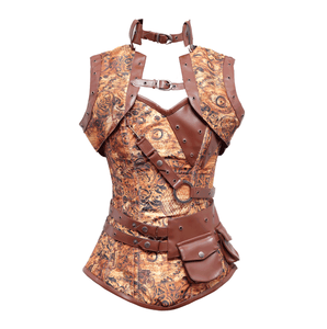 New Design 2020 Authentic Steampunk Overbust Corset
