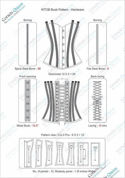 Glen Waist Training Corset