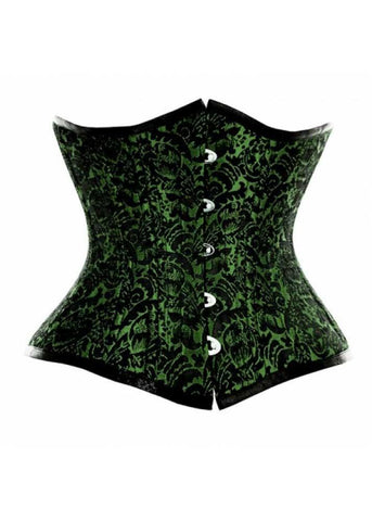 #Waist Trainer Corset, this is a black green waist training corset designed for hourglass figure|Organic Corset USA|The Largest Corset Supplier in the World!