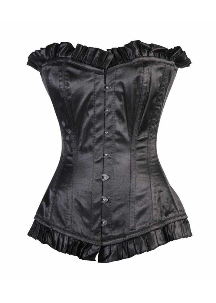 Black Overbust Corset offered by Organic Corset Company USA-The World