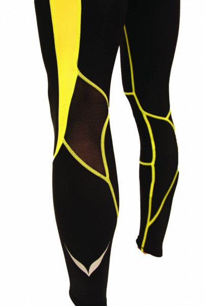 MULTISPORT OMPU COMPRESSION LEGGINGS BLACK/YELLOW