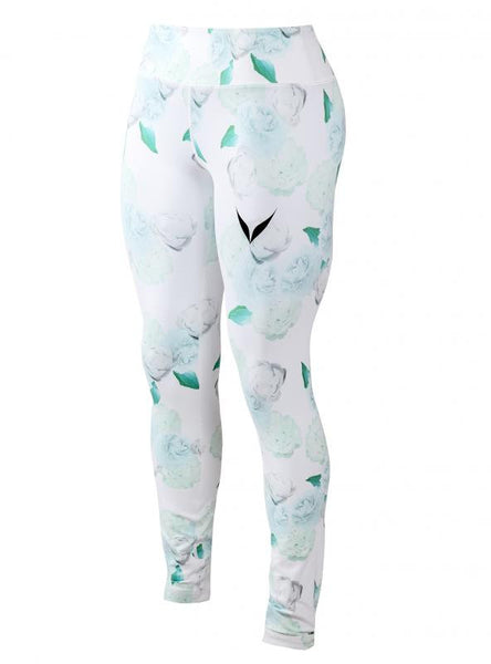 ALVA FITTED TIGHTS (WHITE / OCEAN GREEN)