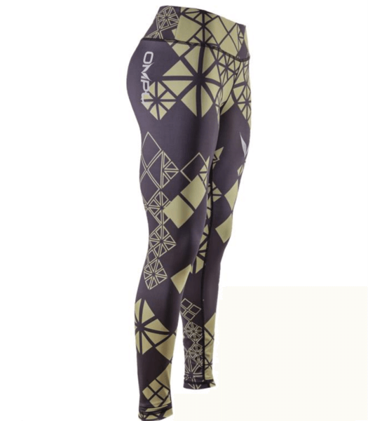 DIAMOND FITTED TIGHTS (BLK / OLIVE)
