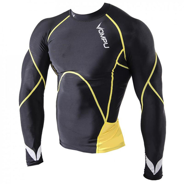 MULTISPORT OMPU COMPRESSION LONGSLEEVE BLACK/YELLOW