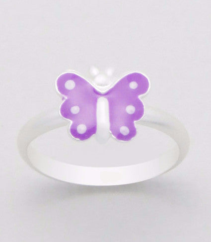 Silver Butterfly Ring for Kids - Rings -  Talkeko Jewelry