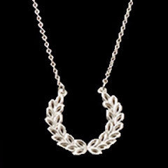 Crescent Silver Necklace - Necklace -  Talkeko Jewelry