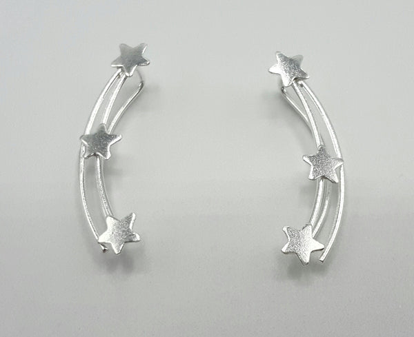 Silver Star Earrings - Earrings -  Talkeko Jewelry