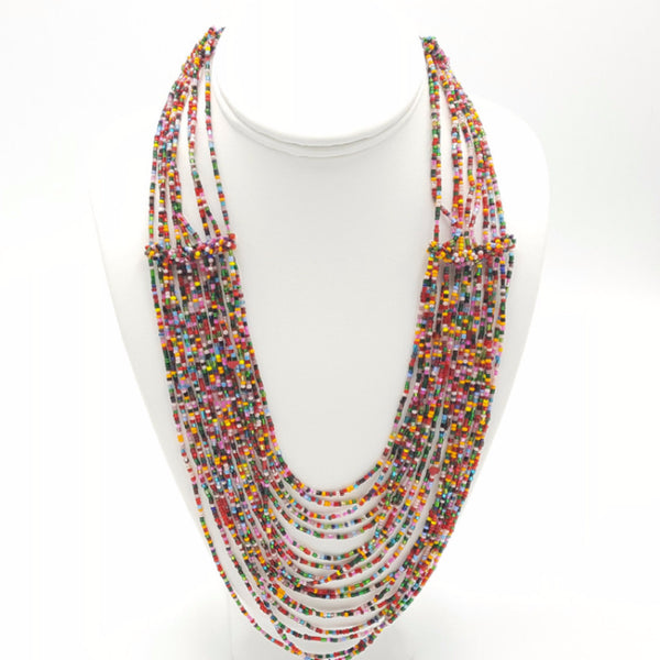 Flowing Drapes - Necklace -  Talkeko Jewelry