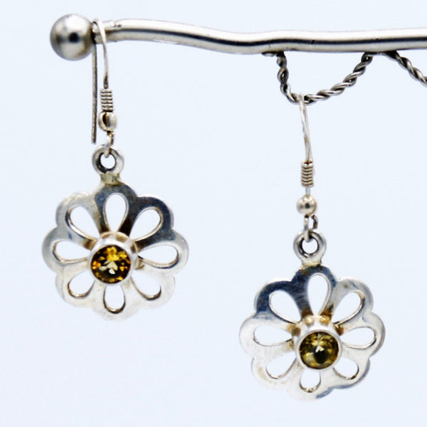 Silver Topaz Bloom - Earrings -  Talkeko Jewelry