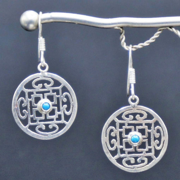 Lover's Eyes Silver Earrings - Earrings -  Talkeko Jewelry