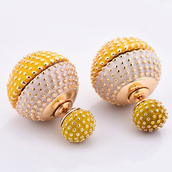 Sparkly Globes - Earrings -  Talkeko Jewelry