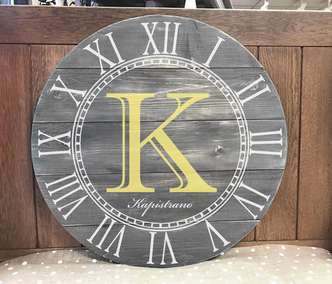 "27"" or 36"" Rustic CLOCK (choose from 4 designs)"