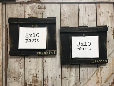 Staggered photo holder Set of 2