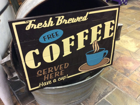 Fresh Brewed Coffee Served Daily