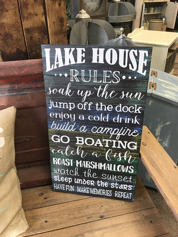 Lake House Rules Mixed Font